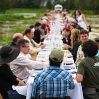 "Sarasota Magazine Article about Worden Farm Hosting ""Outstanding In The Field"""