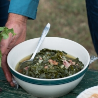 Southern-style Collard Greens with Smoked Ham Hocks