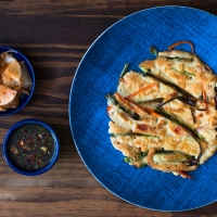 Korean-style Scallion and Veggie Pancakes