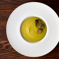 Kina Savoy and Split Pea Puree Soup