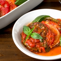Layered Ratatouille with Kina Savoy