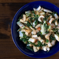 Stir-fried Bok Choy with Black Bean and Garlic Sauce