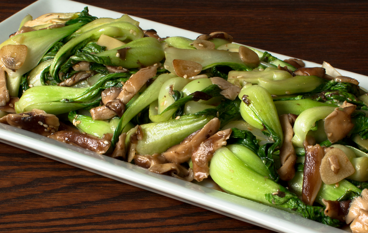 Baby Bok Choy and Shiitake Mushrooms in Oyster Sauce ...