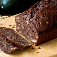 Zucchini, Dutch Chocolate and Almond Quick Bread