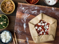 Make caramelized onion and roasted Roma tomato galette lr-7786