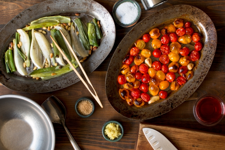 Miz 2 for roasted cherry tomato, spring onion, and pine nut chutney lr-7587