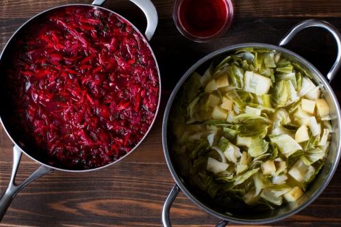 Miz for borscht; cooked prep lr-7215
