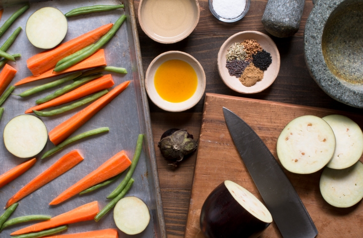 Miz for roasted veggies with mustard oil and Indian five spice lr-8308