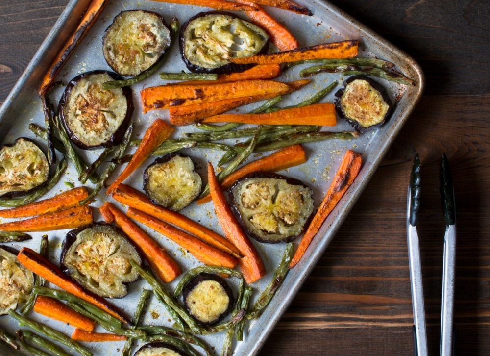 Roasted veggies with mustard oil and Indian five spice lr-8321