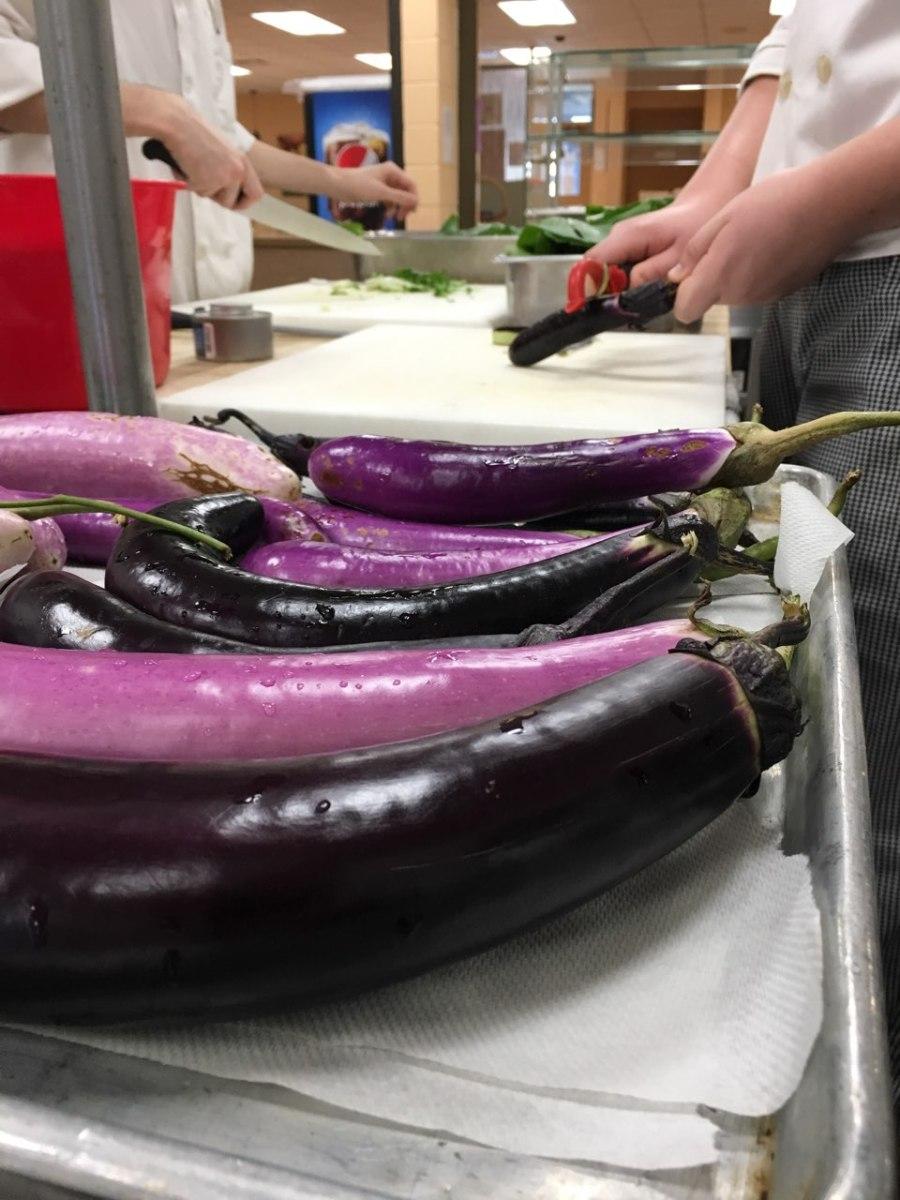 Stir Fry Eggplant & Summer Squash Lettuce Wraps