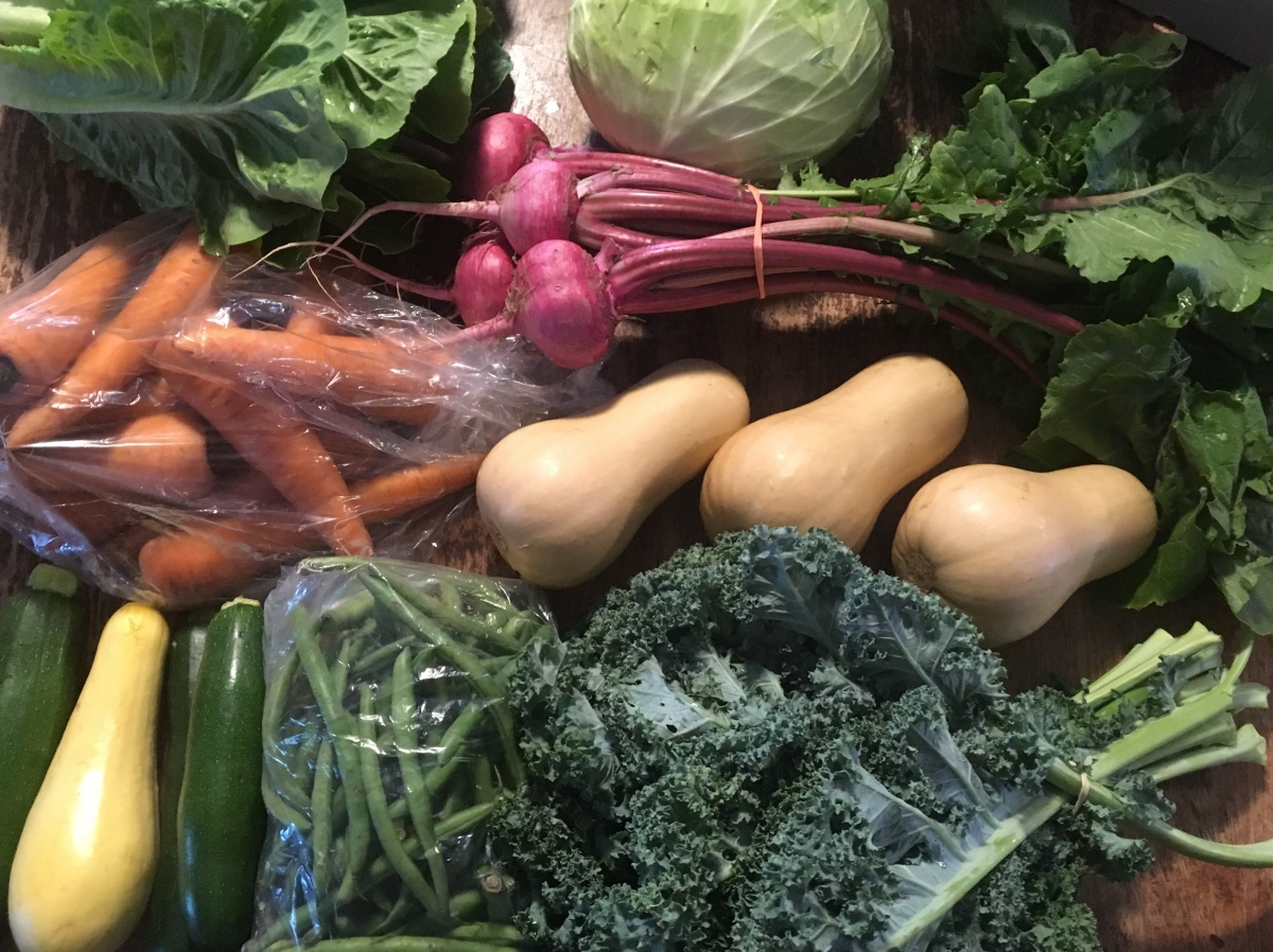 This Week's Organic Veggie Box for 04-18-18