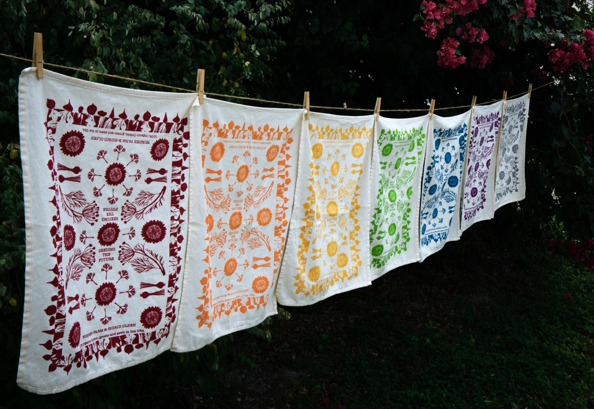 Organic Tea Towel Collection by Worden Farm & Sigrid Olsen