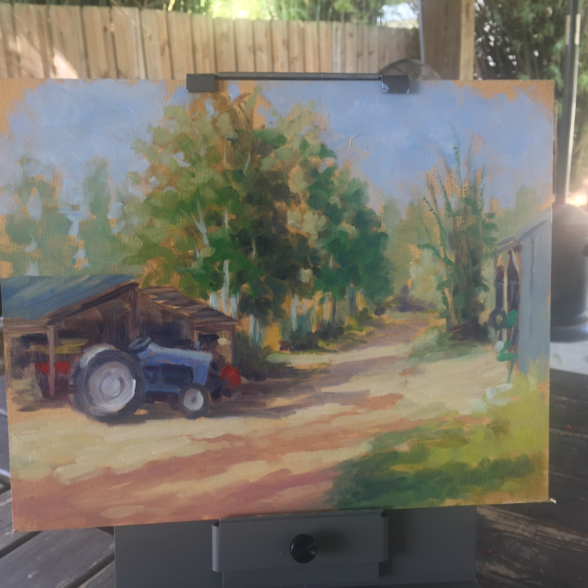 Peace River Painters Visit Worden Farm